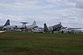 Lockheed P-3B-AEW Orion and Douglas C-47A Skytrain Tico Belle SNF 16April2010 (14443814808).jpg