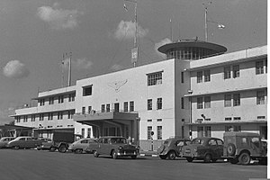 Ben Gurion Airport - Lod Airport, 1958. The building is currently the Terminal 1 building.