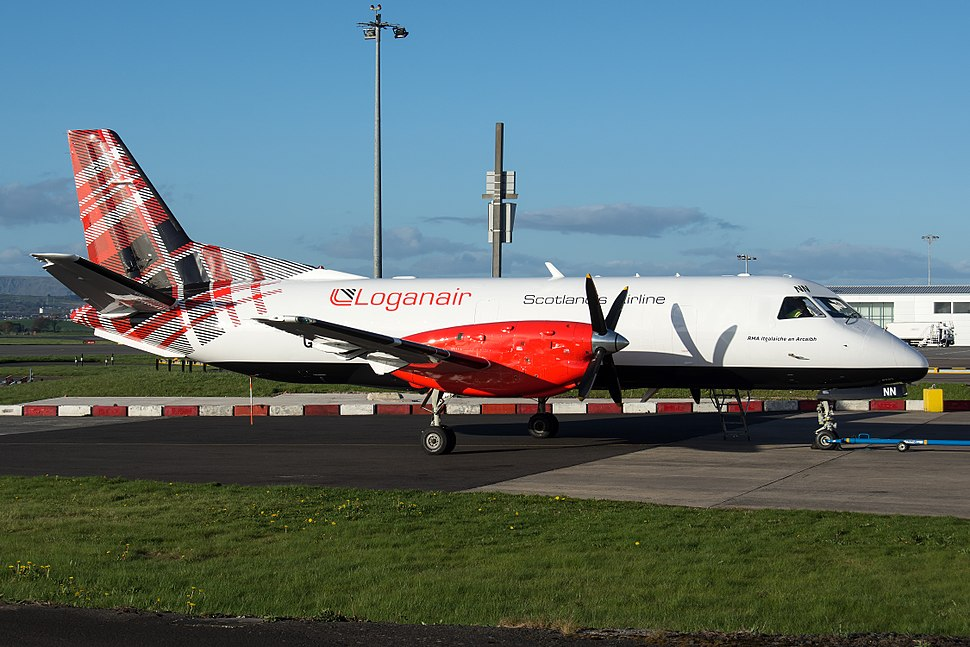 Loganair new livery on Saab 340 G-LGNN (1)