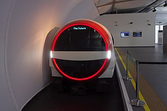 """New Tube for London - Mockup of Siemens """"evo"""" concept proposal"""