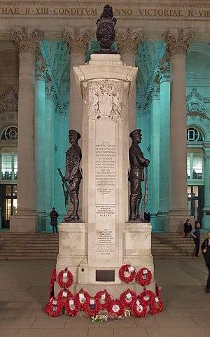 London Troops War Memorial - Image: London MMB »2C2 Royal Exchange