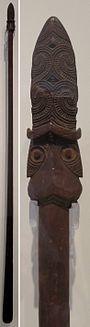 Long staff (taiaha), Maori people, Honolulu Museum of Art, 207.1.jpg