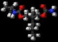 Lorbamate molecule ball.png