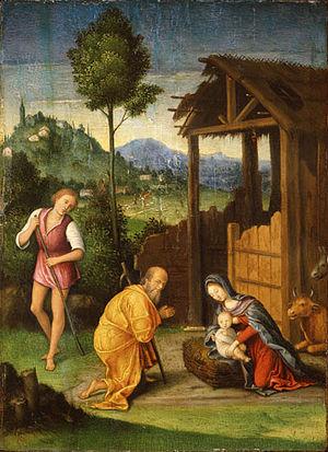 Lorenzo Leonbruno - Image: Lorenzo Leonbruno Adoración de los pastores Worcester Art Museum