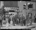 "Los Angeles, California. The traffic sign says ""stop"" but the bulletin in Japanese says ""Go"" to res . . . - NARA - 536791.tif"
