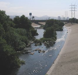 Los Angeles River ter hoogte van de Glendale Narrows
