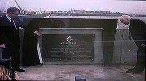 Cardiff Bay Barrage - Low-key inauguration ceremony of Cardiff Bay Barrage November 1999