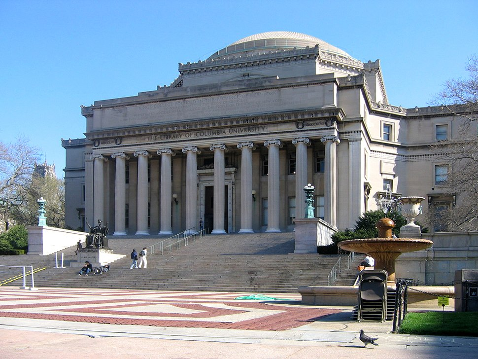 Low Memorial Library Columbia University NYC retouched