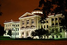Lucas County, Ohio Courthouse at night.jpg