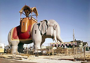 Lucy the Elephant - Image: Lucy the Margate Elephant HABS NJ,1 MARGCI,1 7