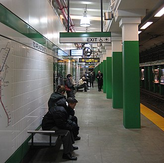 Arlington station (MBTA) - Outbound platform in December 2009