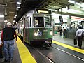 MBTA Green Line Type 7 LRV at Park Street station.jpg