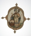MCC-9277 Ovaal medaillon met St. Nicolaas en drie kinderen in een tobbe (1).tif