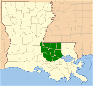 United States District Court for the Middle District of Louisiana - Image: MDLA map
