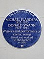 MICHAEL FLANDERS 1922-1975 DONALD SWANN 1923-1994 Writers and performers of comic songs lived and worked in the garden studio.jpg