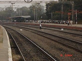 Mahabubabad - Platforms of Mahabubabad Railway Station, under renovation during January 2008