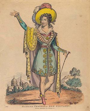 Lucia Elizabeth Vestris - Image: Madam Vestris as Don Giovanni