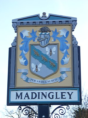 Madingley - Image: Madingley village sign