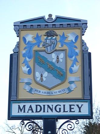 Madingley - Image: Madingley village sign