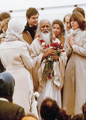 John Hagelin - Maharishi Mahesh Yogi visits the Maharishi University of Management in 1979.