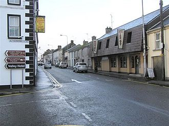 Fivemiletown - A view southwest along the main street of Fivemiletown