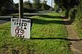 Makeshift sign, Bledington - geograph.org.uk - 998262.jpg