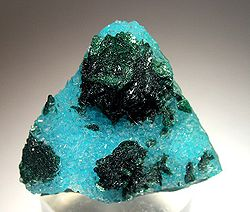 Malachite-Quartz-Chrysocolla specimen from the Bagdad Mine