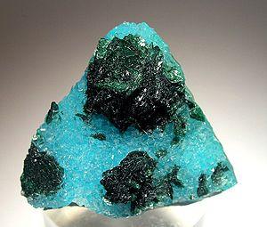 Bagdad, Arizona - Malachite-Quartz-Chrysocolla specimen from the Bagdad Mine
