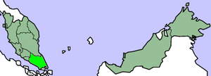 Landing at Pontian - The landings took place in the Pontian District, on the west coast of the Malaysian state of Johor, highlighted on the map above.