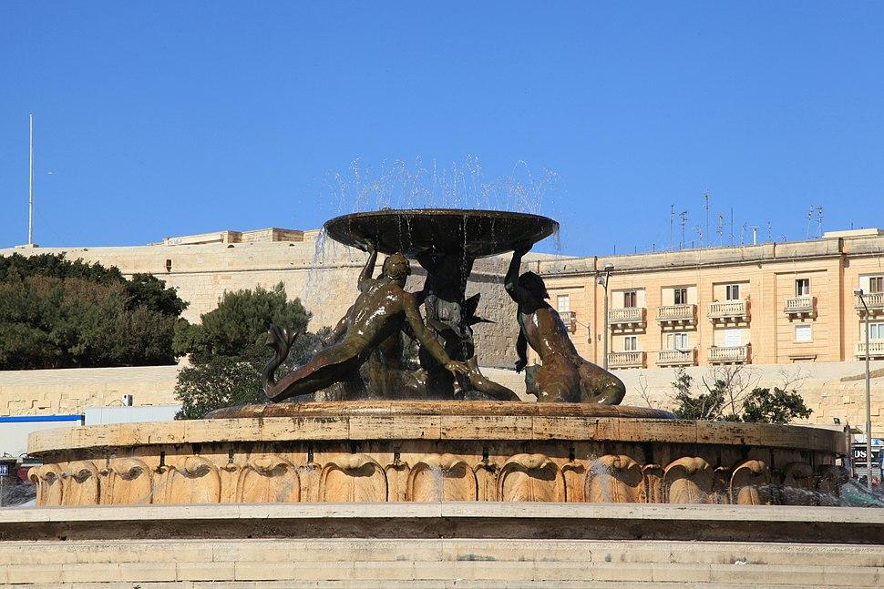 Malta - Valletta - Vjal Nelson - Triton Fountain 11 ies