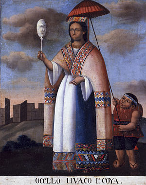 Mama Ocllo - Mama Ocllo, anonymous oil on canvas painting from Peru, circa 1840, San Antonio Museum of Art