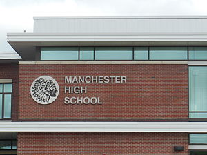 Manchester High School (Connecticut) - Image: Manchester High School freshman wing sign