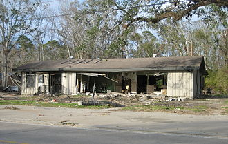 Mandeville, Louisiana - Building smashed by Katrina's storm surge