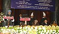 "Manmohan Singh addressing at the 4th Prof. Hiren Mukerjee Memorial Annual Parliamentary Lecture on the theme ""Gross National Happiness A Holistic Paradigm For Sustainable Well-being"", at Parliament House.jpg"