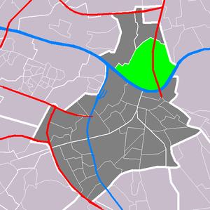 Lent, Gelderland - Image: Map NL Nijmegen Lent