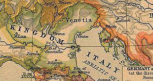 The Venetian Dalmatia was part of the Napoleonic Kingdom of Italy in 1805.