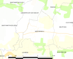 Map commune FR insee code 33283.png