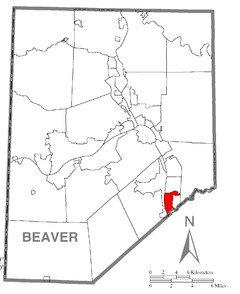Map of Ambridge, Beaver County, Pennsylvania Highlighted.png