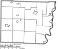 Map of Belmont County Ohio Highlighting Yorkville Village.png