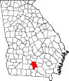 Map of Georgia highlighting Berrien County.svg