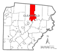 Map of Goshen Township, Clearfield County, Pennsylvania Highlighted.png
