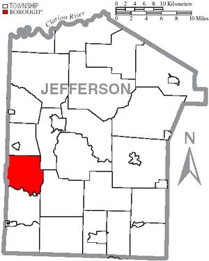 Beaver Township, Jefferson County, Pennsylvania - Image: Map of Jefferson County, Pennsylvania Highlighting Beaver Township