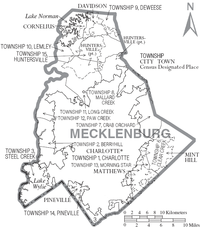 Map of Mecklenburg County North Carolina With Municipal and Township Labels.PNG