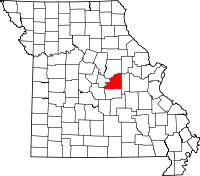 Map of Missouri highlighting Osage County