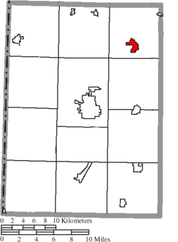 Location of Lewisburg in Preble County