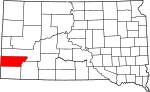 State map highlighting Custer County