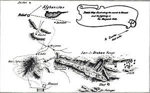 Niedermayer–Hentig Expedition - A map by Colonel Reginald Dyer illustrating the Sistan border with Afghanistan. Dyer led the Seistan Force, hunting for infiltrating German agents through much of 1916.