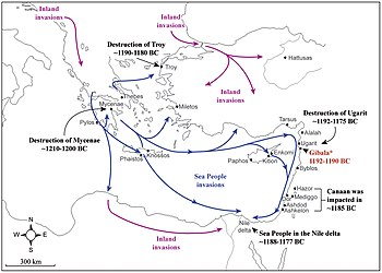 Map of the Sea People invasions in the Aegean Sea and Eastern Mediterranean at the end of the Late Bronze Age.jpg