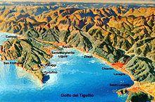 Mappa geografica del Tigullio