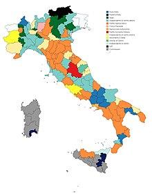 Cartina Italia Con Regioni E Province.Province D Italia Wikipedia